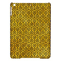 Hexagon1 Black Marble & Yellow Marble (r) Apple Ipad Air Hardshell Case by trendistuff