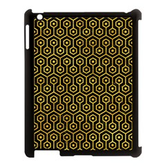 Hexagon1 Black Marble & Yellow Marble Apple Ipad 3/4 Case (black) by trendistuff