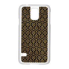 Hexagon1 Black Marble & Yellow Marble Samsung Galaxy S5 Case (white) by trendistuff