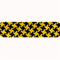 Houndstooth2 Black Marble & Yellow Marble Large Bar Mat by trendistuff