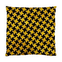 Houndstooth2 Black Marble & Yellow Marble Standard Cushion Case (two Sides) by trendistuff