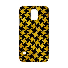 Houndstooth2 Black Marble & Yellow Marble Samsung Galaxy S5 Hardshell Case  by trendistuff