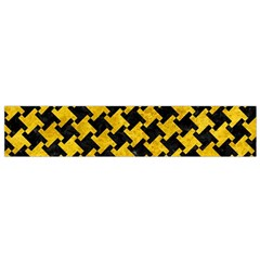 Houndstooth2 Black Marble & Yellow Marble Flano Scarf (small) by trendistuff