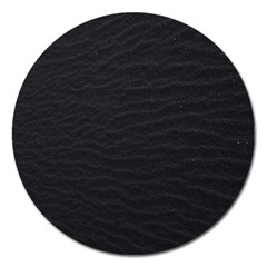 Black Pattern Sand Surface Texture Magnet 5  (round) by Amaryn4rt