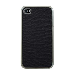 Black Pattern Sand Surface Texture Apple Iphone 4 Case (clear)