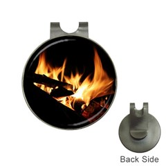 Bonfire Wood Night Hot Flame Heat Hat Clips With Golf Markers