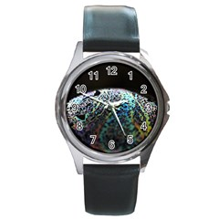 Bubble Iridescent Soap Bubble Round Metal Watch