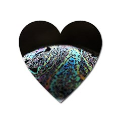 Bubble Iridescent Soap Bubble Heart Magnet by Amaryn4rt