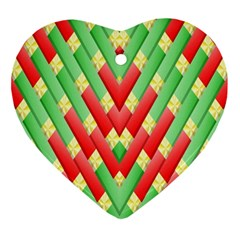 Christmas Geometric 3d Design Ornament (heart) by Amaryn4rt