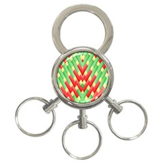 Christmas Geometric 3d Design 3 Ring Key Chains