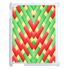 Christmas Geometric 3d Design Apple Ipad 2 Case (white) by Amaryn4rt