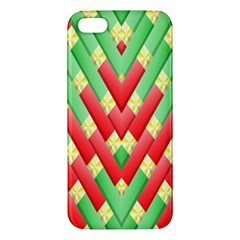 Christmas Geometric 3d Design Apple Iphone 5 Premium Hardshell Case by Amaryn4rt