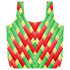 Christmas Geometric 3d Design Full Print Recycle Bags (l)  by Amaryn4rt