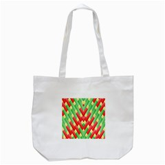 Christmas Geometric 3d Design Tote Bag (white) by Amaryn4rt