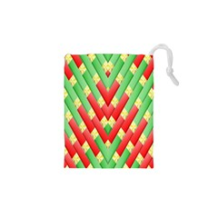 Christmas Geometric 3d Design Drawstring Pouches (xs)  by Amaryn4rt