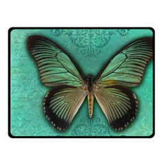 Butterfly Background Vintage Old Grunge Fleece Blanket (small) by Amaryn4rt