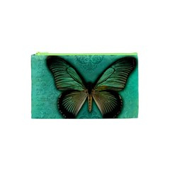 Butterfly Background Vintage Old Grunge Cosmetic Bag (xs) by Amaryn4rt