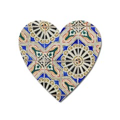 Ceramic Portugal Tiles Wall Heart Magnet by Amaryn4rt
