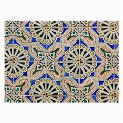 Ceramic Portugal Tiles Wall Large Glasses Cloth (2 Side) by Amaryn4rt