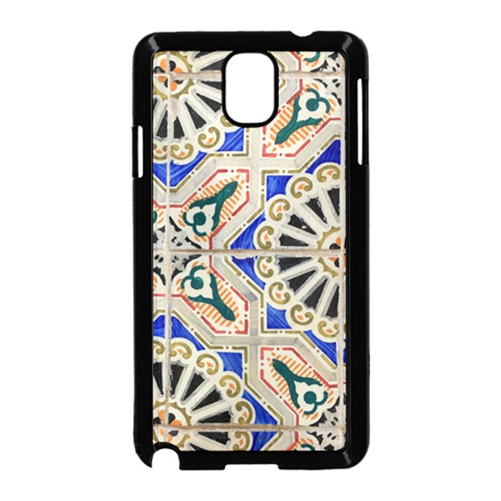 Ceramic Portugal Tiles Wall Samsung Galaxy Note 3 Neo Hardshell Case (Black)