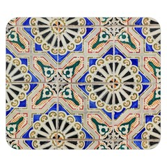 Ceramic Portugal Tiles Wall Double Sided Flano Blanket (small)  by Amaryn4rt
