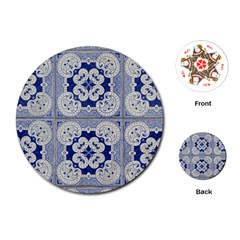 Ceramic Portugal Tiles Wall Playing Cards (round)