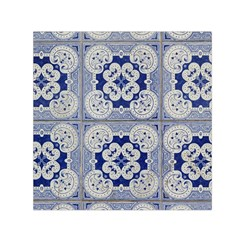 Ceramic Portugal Tiles Wall Small Satin Scarf (square) by Amaryn4rt