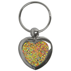 Canvas Acrylic Design Color Key Chains (heart)  by Amaryn4rt