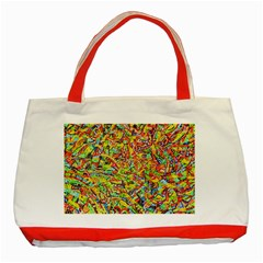 Canvas Acrylic Design Color Classic Tote Bag (red) by Amaryn4rt
