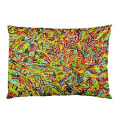 Canvas Acrylic Design Color Pillow Case (two Sides) by Amaryn4rt