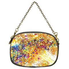 Canvas Acrylic Design Color Chain Purses (one Side)  by Amaryn4rt