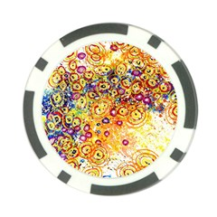 Canvas Acrylic Design Color Poker Chip Card Guard (10 Pack) by Amaryn4rt