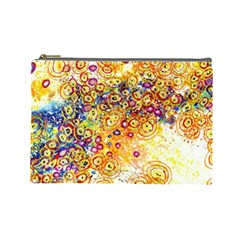 Canvas Acrylic Design Color Cosmetic Bag (large)  by Amaryn4rt