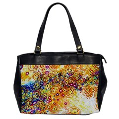 Canvas Acrylic Design Color Office Handbags