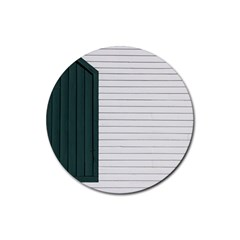 Construction Design Door Exterior Rubber Coaster (round)  by Amaryn4rt