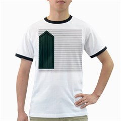 Construction Design Door Exterior Ringer T Shirts by Amaryn4rt