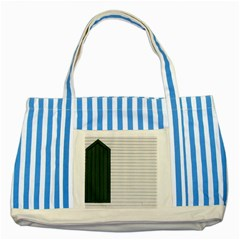Construction Design Door Exterior Striped Blue Tote Bag by Amaryn4rt