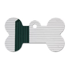 Construction Design Door Exterior Dog Tag Bone (one Side) by Amaryn4rt