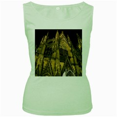 Cologne Church Evening Showplace Women s Green Tank Top by Amaryn4rt