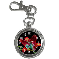 Flower Pattern Design Abstract Background Key Chain Watches