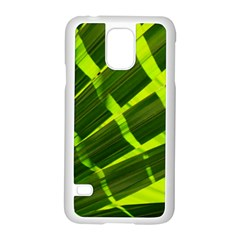 Frond Leaves Tropical Nature Plant Samsung Galaxy S5 Case (white) by Amaryn4rt
