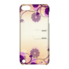 Floral Background Apple Ipod Touch 5 Hardshell Case With Stand by Amaryn4rt