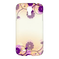Floral Background Samsung Galaxy S4 I9500/i9505 Hardshell Case by Amaryn4rt