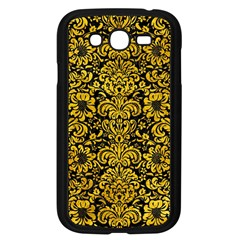 Damask2 Black Marble & Yellow Marble Samsung Galaxy Grand Duos I9082 Case (black) by trendistuff