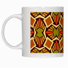 Geometry Shape Retro Trendy Symbol White Mugs