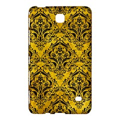 Damask1 Black Marble & Yellow Marble (r) Samsung Galaxy Tab 4 (7 ) Hardshell Case  by trendistuff
