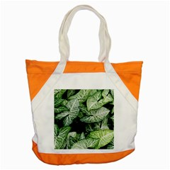 Green Leaves Nature Pattern Plant Accent Tote Bag