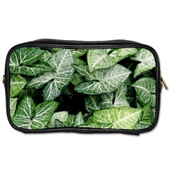 Green Leaves Nature Pattern Plant Toiletries Bags 2 Side by Amaryn4rt