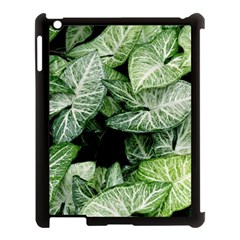 Green Leaves Nature Pattern Plant Apple Ipad 3/4 Case (black) by Amaryn4rt