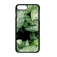 Green Leaves Nature Pattern Plant Apple Iphone 7 Plus Seamless Case (black) by Amaryn4rt
